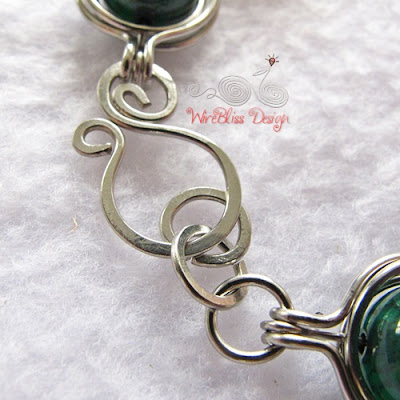 Wire wrapped clasp, hook