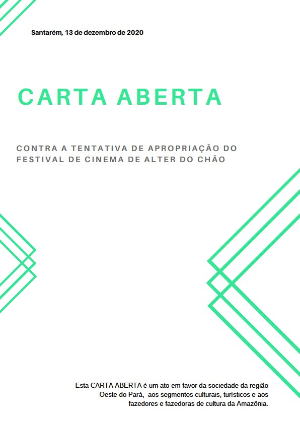 Carta aberta cinema