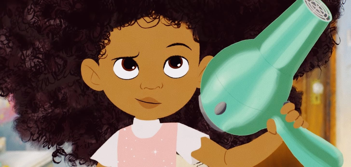 Hair Love, an Oscar-winning animated short film from Matthew A. Cherry, tells the heartfelt story of an African American father learning to do his daughter's hair for the first time.