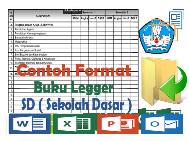 Contoh Format Buku Legger SD