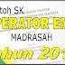 Contoh SK Operator EMIS Madrasah Tahun 2018