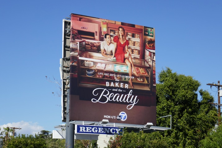Baker and Beauty series launch billboard