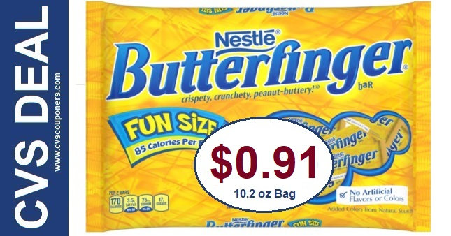 Cheap Butterfinger Fun Size Bars at CVS 10-25-10-31