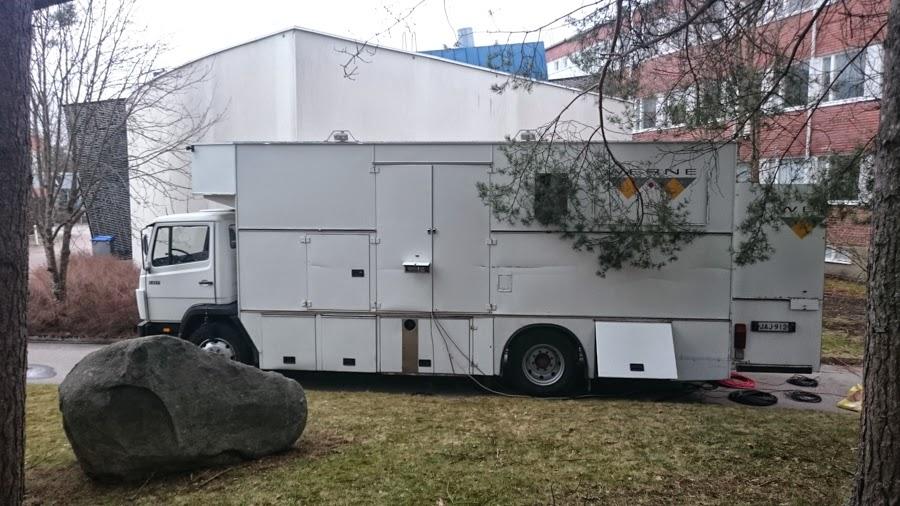 Tuotantoyhtiö Werne lähetysauto varmisti live-lähetykset tapahtumasta