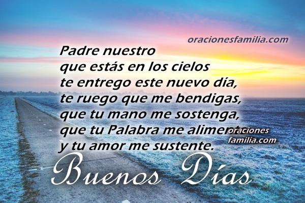 Frases bonitas de buenos días con oración corta cristiana, oración de la mañana con imágenes por Mery Bracho