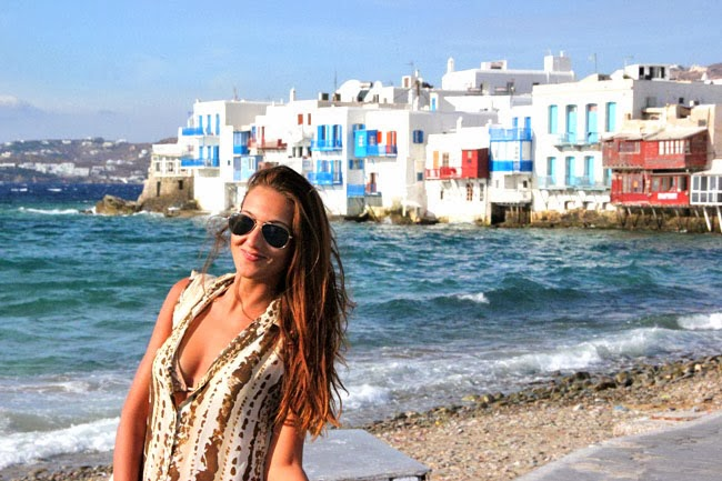 Little Venice Mykonos travel photos