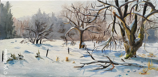 pleinairpainting, snowlandscape, oilpainting