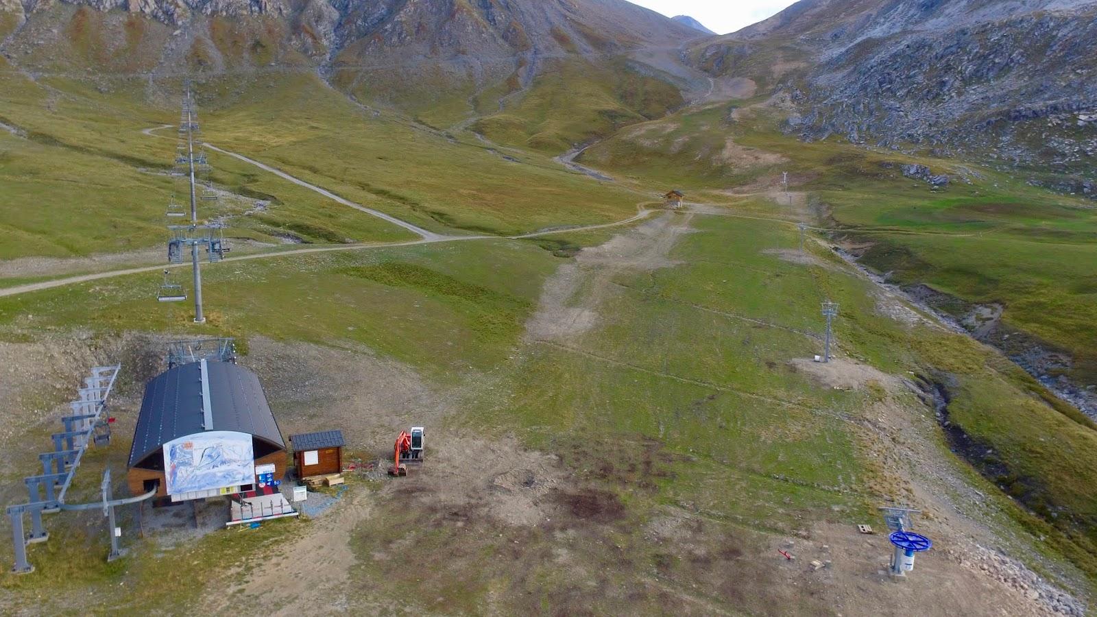 vue de l'emplacement du nouveau téléski débutant de Valfréjus