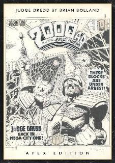 2000AD black and white comic cover - Apex Edition