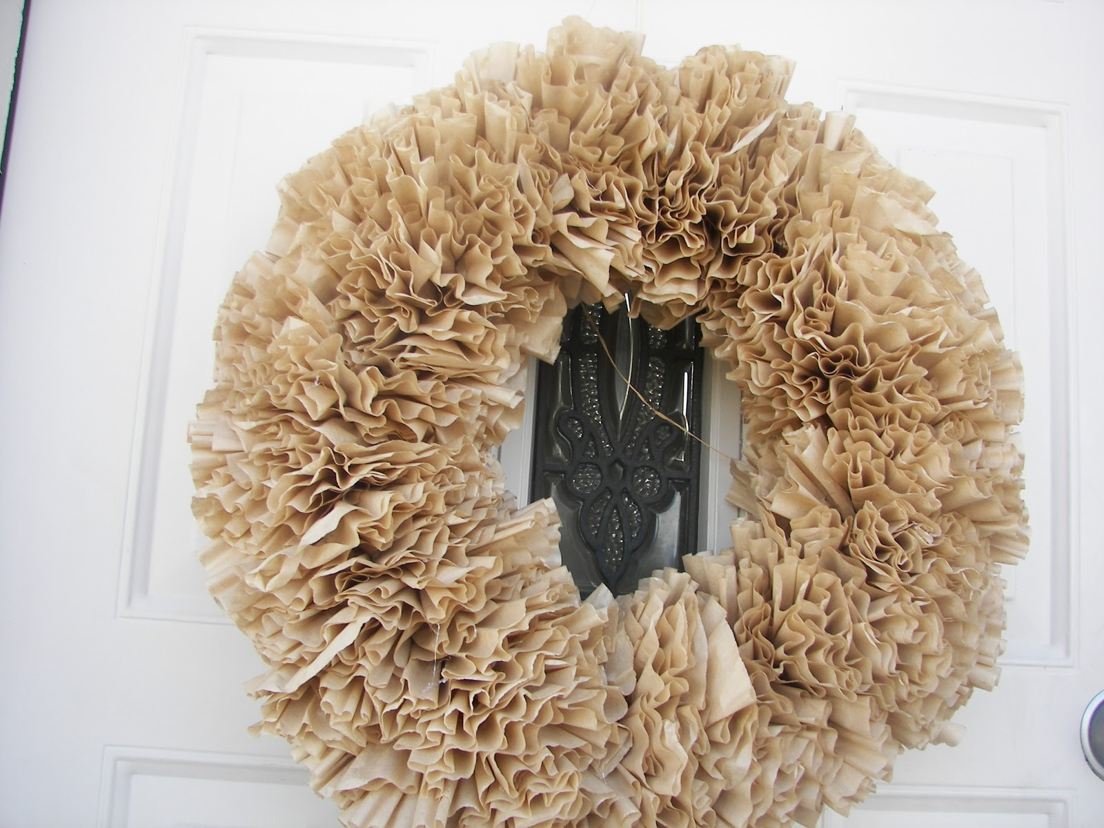 Red Couch Recipes: Coffee Filter Wreath -- Late to the Game
