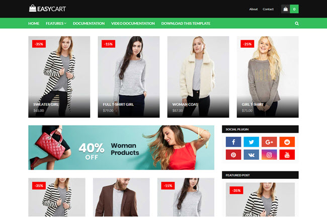 [Free Download] EasyCart Blogger Template