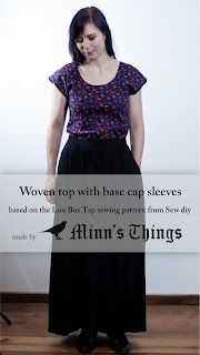minn's things woven shirt sewing selfdrafted pattern cotton
