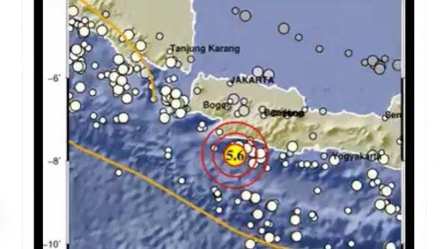 Gempa M 5,6 Guncang Sukabumi, Getaran Terasa hingga Jakarta