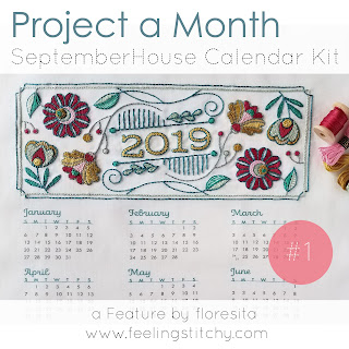 Project a Month featuring the SeptemberHouse 2019 Calendar Kit as stitched by floresita for Feeling Stitchy