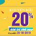 Viettel tưng bừng khuyến mãi tặng 20% giá trị thẻ nạp ngày 30-10-2019
