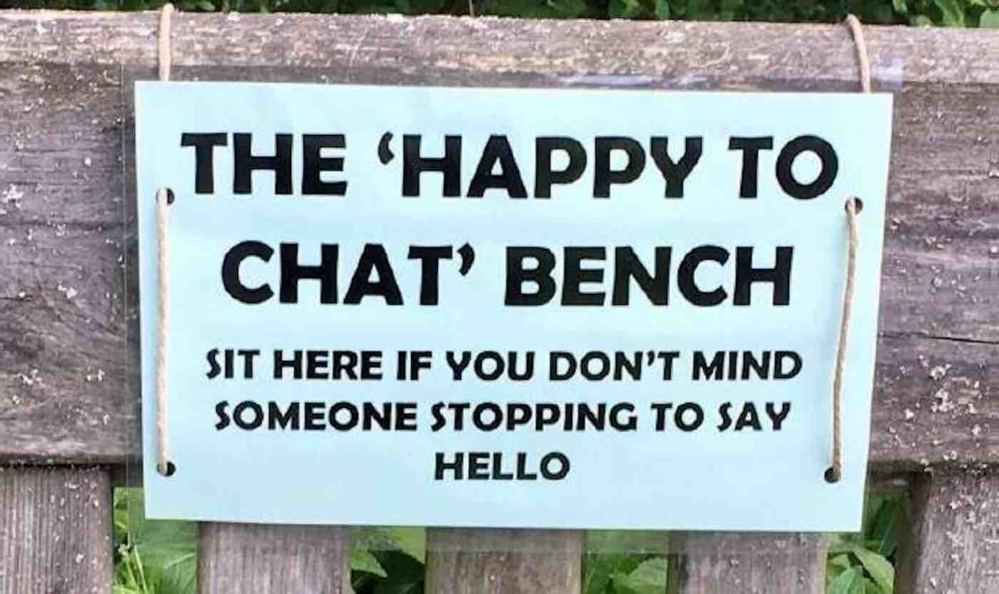 Police Forces Are Designing Public 'Chat Benches' For Strangers To Chat To Fight Social Isolation