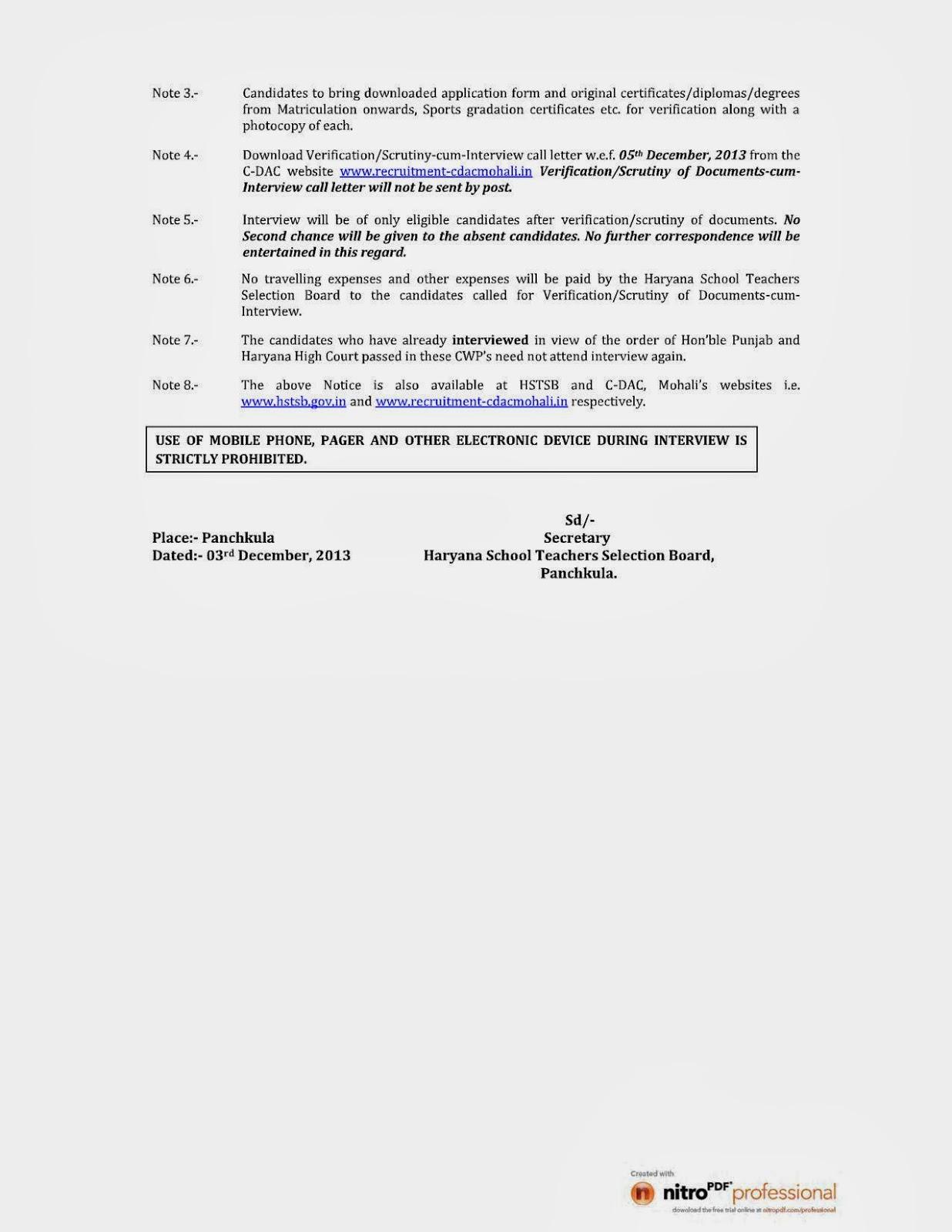 provisional interview schedule prt advt no 2 2012 cat no 2 teacherharyana pot com recruitment vacancy job news