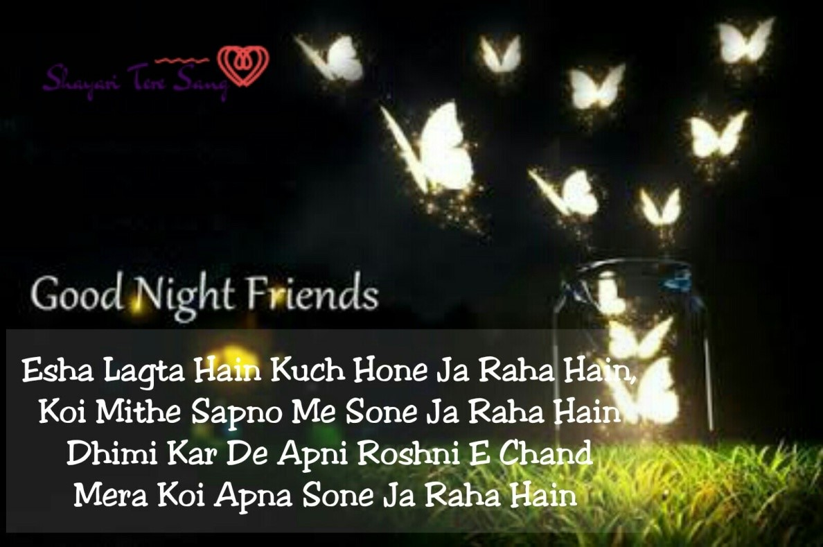 good night message shayari hindi picture ke sath shayari tere sang