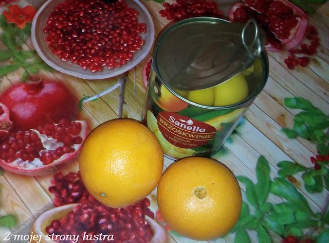 koktajl z brzoskwini i pomarańczy
