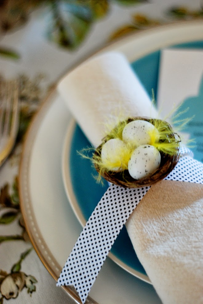 easter napkin ring, easter napkin ring holder, diy easter napkin ring, homemade easter napkin ring