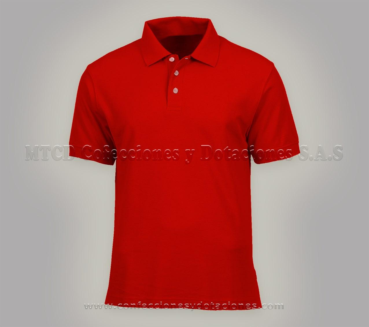 Camisa Polo roja personalizada