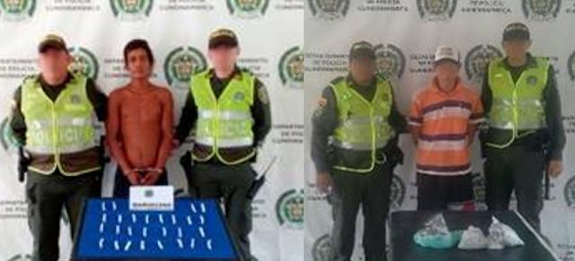 Policía halló más de 400 gramos de marihuana y logró la captura de dos hombres en Girardot