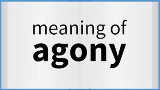 agony meaning