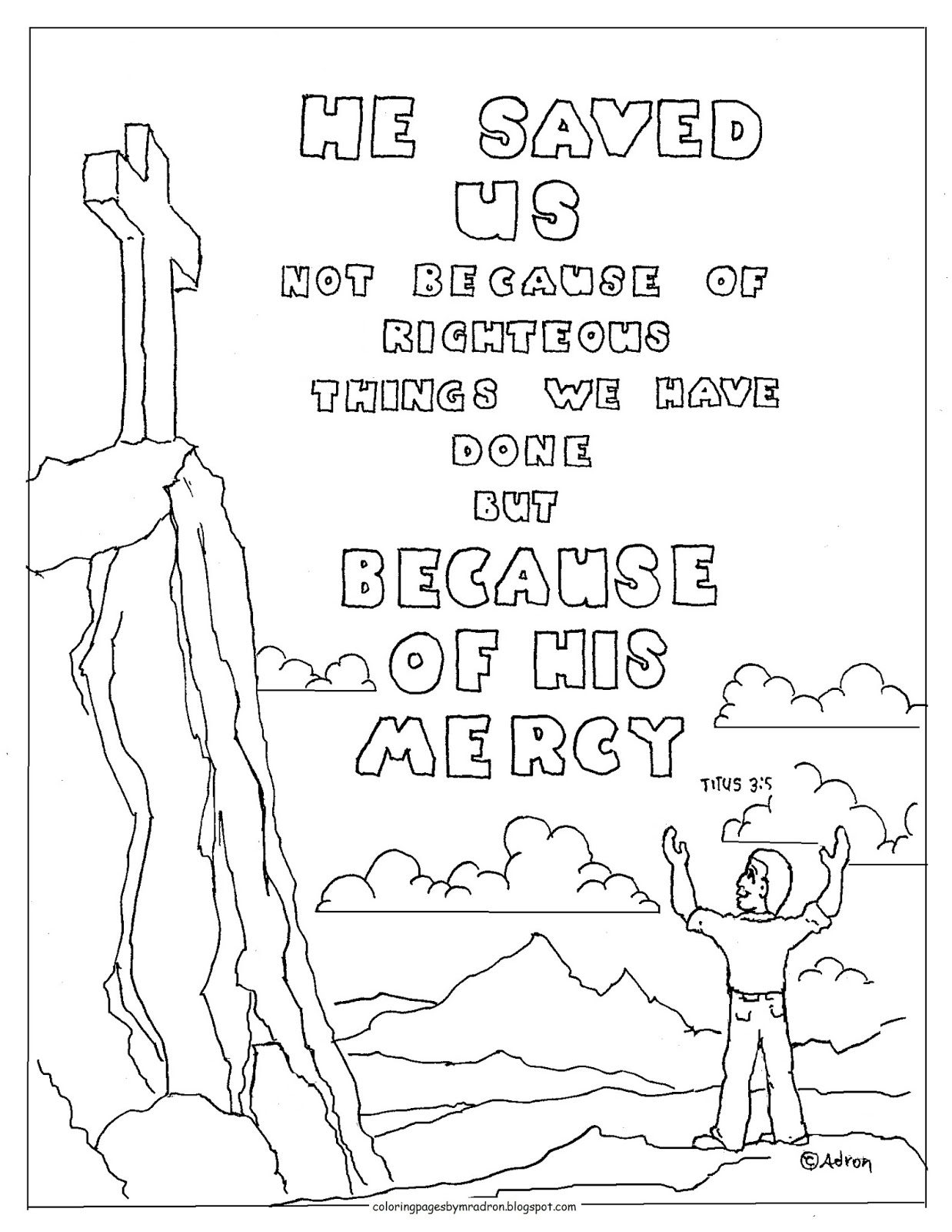 Coloring Pages For Kids By Mr Adron Titus 3 5 Printable
