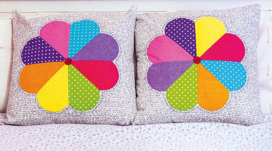 Petal cushions. Patchwork