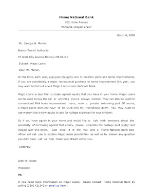 Sales Letter Example