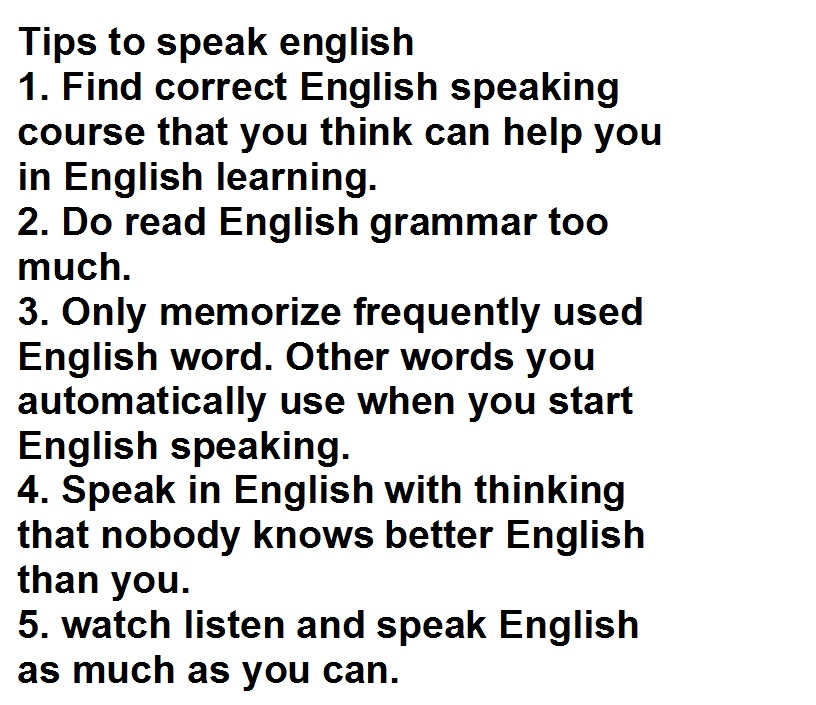 Some Tips on Learning English