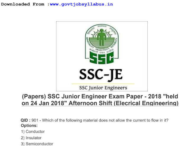 SSC je Exam Pattern