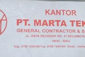 Lowongan PT. Marta Teknik Indragiri Hulu Riau Mei 2019