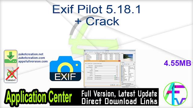 Exif Pilot 5.18.1 + Crack