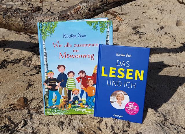 """5 Gründe, warum das Lesen in Krisenzeiten wichtiger denn je ist. Ich stelle Euch das Buch """"Das Lesen und ich"""" von Kirsten Boie samt anderen Kinderbüchern zum Jubiläum der bekannten Autorin vor und nenne Euch fünf Gründe, weshalb das Lesen und die Bücher sowohl für Kinder als auch für Erwachsene in der Krise relevant und hilfreich sind."""
