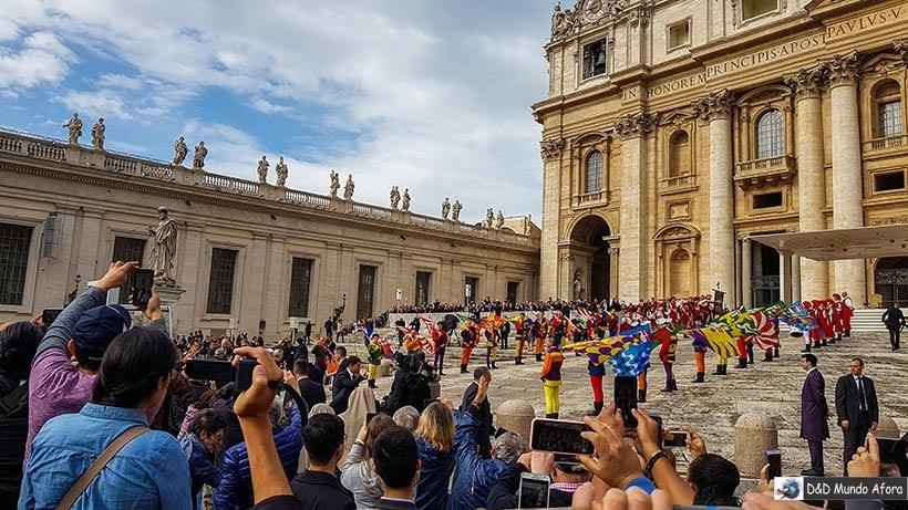Audiência do Papa na Praça São Pedro - Diário de Bordo: 3 dias em Roma