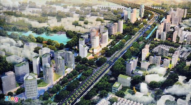 Hình ảnh quy hoạch trục đường Nhật Tân - Nội Bài