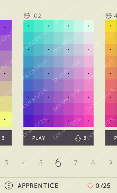 I Love Hue Apprentice Level 6 Solution, Cheats, Walkthrough
