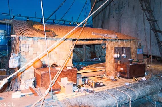 Barca Kon Tiki que surco el Pacifico