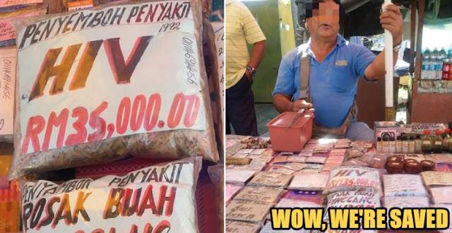 Heboh, Pria Asal Malaysia Ini Menjual Ramuan Penyembuh HIV/AIDS Dan Dan Penyakit Lain