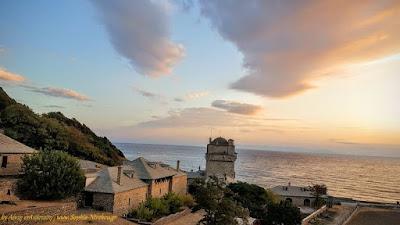 Ανατολή στην Ιερά Μονή Ιβήρων Αγίου Όρους