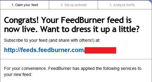 cara pasang feedbuner pada blog