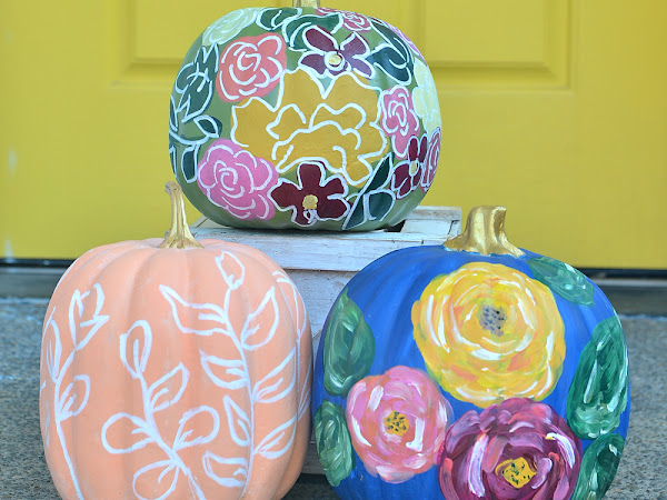 How to Paint Modern Flowers on Pumpkins