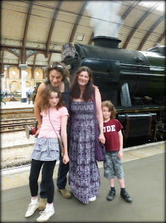The family at York Railway Station