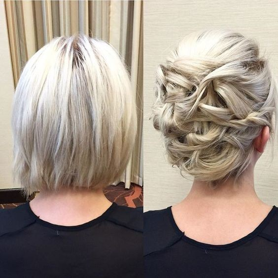48 latest best prom hairstyles 2017 hairstylo simple in the front and a cute updo at the back pmusecretfo Images