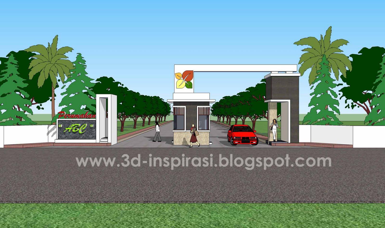 940 Koleksi Desain Gapura Perumahan Minimalis HD Terbaru