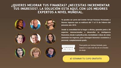 Evento Virtual Finanzas Personales y Nuevos Ingresos