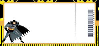Tarjeta con forma de Ticket de Batman.