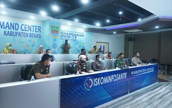 Bupati Bekasi Rapat Penanganan Covid-19 Bersama Presiden RI Joko Widodo
