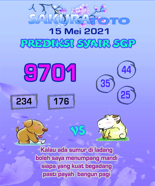 Syair Sakuratoto Singapore Sabtu 15 Mei 2021